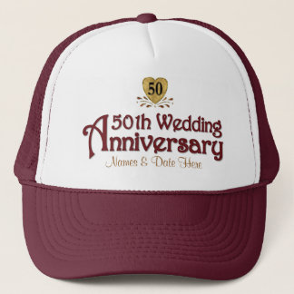 Gold 50th Anniversary Trucker Hat