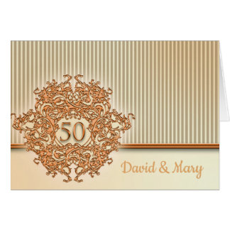 Gold, 50th Wedding Anniversary. Card