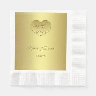 Gold 50th Wedding Anniversary We still DO Disposable Napkins