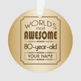 Gold 80th Birthday Celebration World Best Fabulous