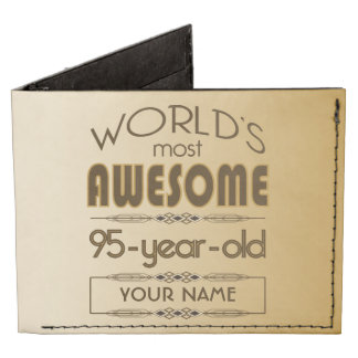 Gold 95th Birthday Celebration World Best Fabulous Tyvek Wallet