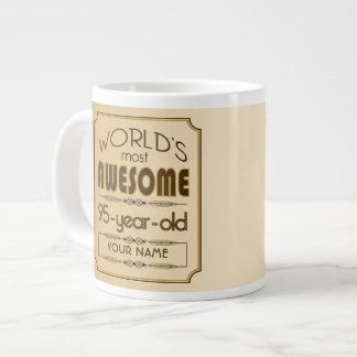 Gold 95th Birthday Celebration World Best Fabulous Large Coffee Mug