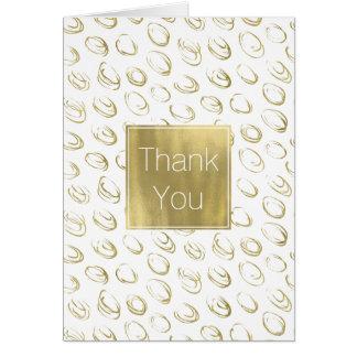 Gold Abstract Circles Thank you Card