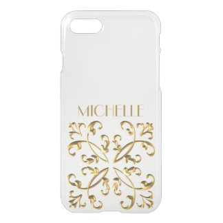 Gold Accent with Name iPhone 7 Case