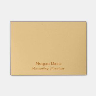 Gold Accounting Assistant Post-it Notes