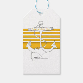 gold admiral of the fleet, tony fernandes pack of gift tags