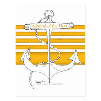 gold admiral of the fleet, tony fernandes postcard