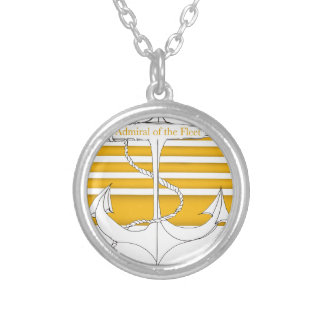 gold admiral of the fleet, tony fernandes silver plated necklace