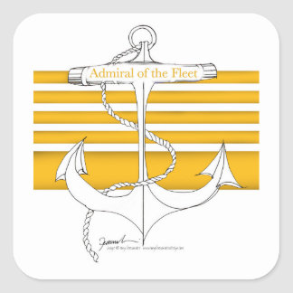 gold admiral of the fleet, tony fernandes square sticker