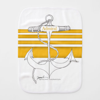 gold admiral, tony fernandes burp cloth