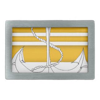 gold admiral, tony fernandes rectangular belt buckle
