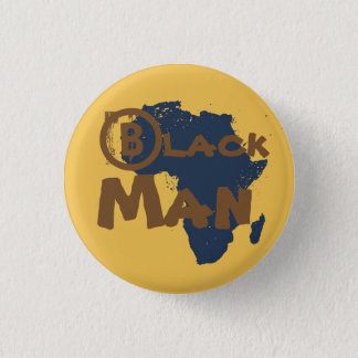 Gold Africa BlackMan button