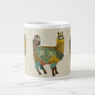 Gold Alpaca & Teal Owl Mug