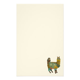 Gold Alpaca & Teal Owl Stationery