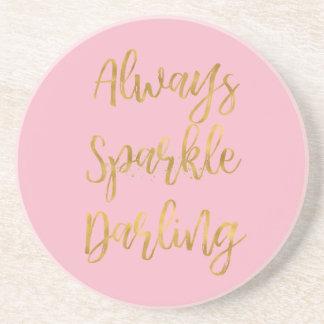 Gold Always Sparkle Darling Coaster