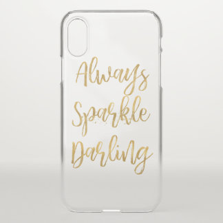 Gold Always Sparkle Darling iPhone X Case