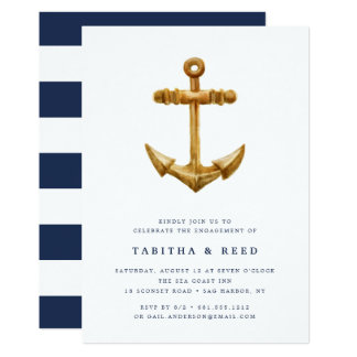 Gold Anchor | Engagement Party Invitation