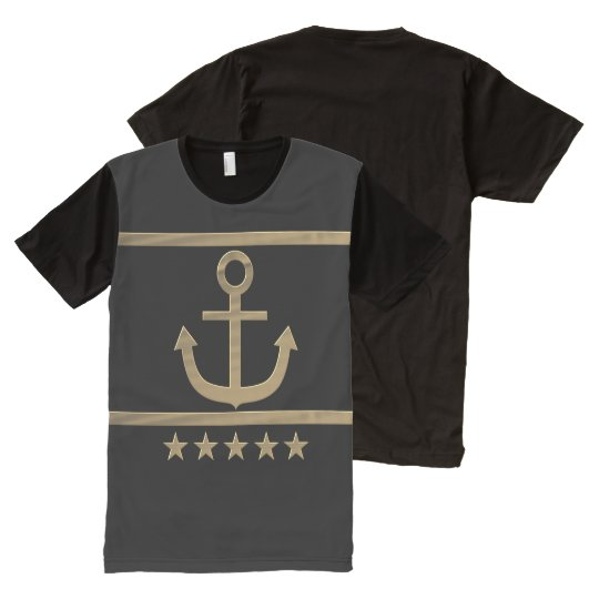 gold anchor happiness symbol All-Over-Print T-Shirt