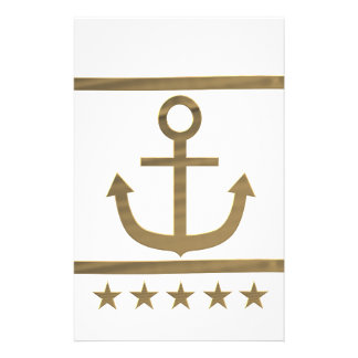 gold anchor happiness symbol customized stationery