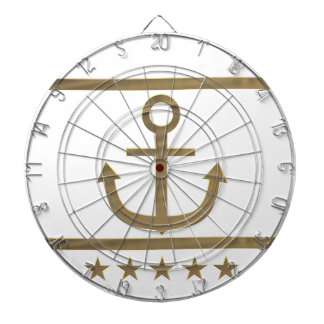 gold anchor happiness symbol dartboard
