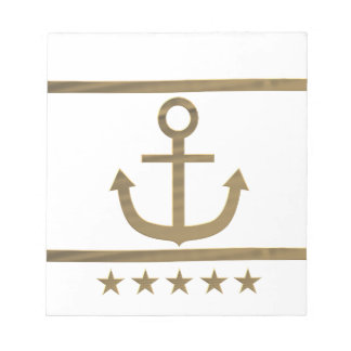 gold anchor happiness symbol notepad