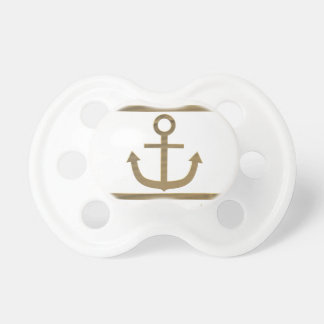 gold anchor happiness symbol pacifier