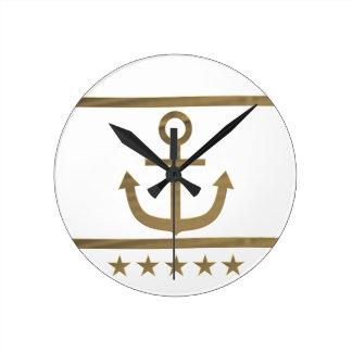 gold anchor happiness symbol wallclocks