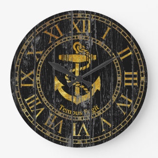 Gold Anchor Personalize Wall Clock