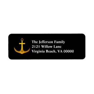 Gold Anchor Return Address Labels