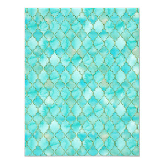 Gold and Aqua Maroccan pattern Card
