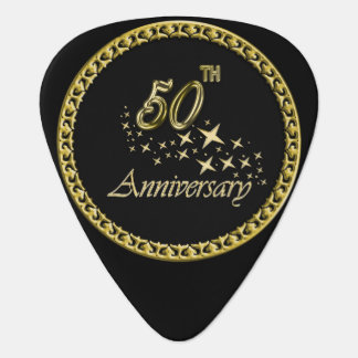 Gold and black 50th Anniversary Celebration Guitar Pick