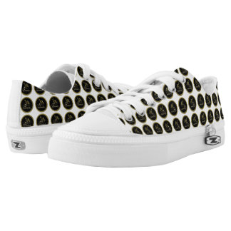 Gold and black 50th Anniversary Celebration Low-Top Sneakers