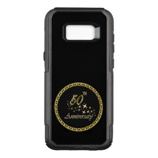 Gold and black 50th Anniversary Celebration OtterBox Commuter Samsung Galaxy S8+ Case