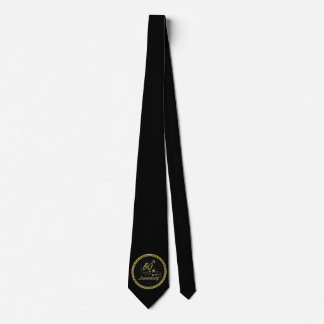 Gold and black 50th Anniversary Celebration Tie