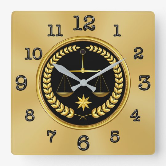 Gold and Black Attorney Clocks