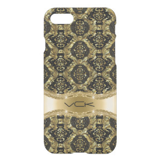 Gold And Black Baroque Floral Pattern iPhone 7 Case