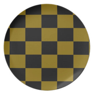 Gold and Black Checkered Plate