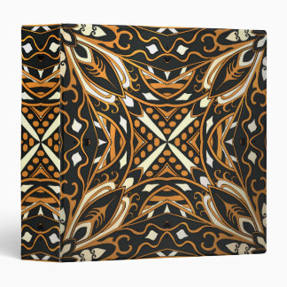 Gold and black complicated moroccan ornament 3 ring binders