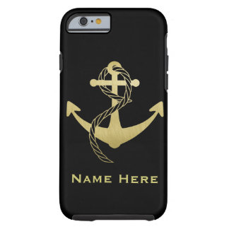Gold and Black Custom Nautical Phone Case