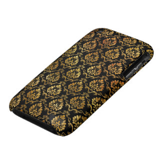 Gold and Black Damask Case-Mate iPhone 3 Case
