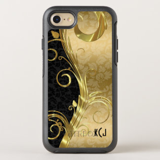 Gold And Black Damask Gold Swirls OtterBox Symmetry iPhone 8/7 Case