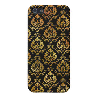 Gold and Black Damask iPhone 5 Cover