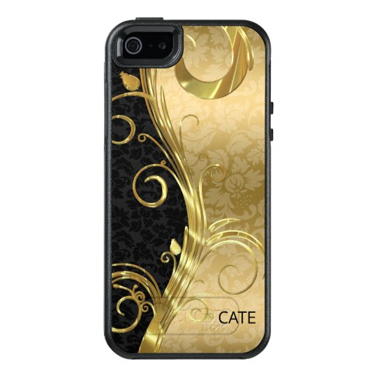 Gold And Black Damask OtterBox iPhone 5/5s/SE Case
