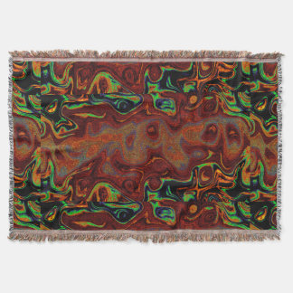Gold and Black Fire Stone 4 Throw Blanket