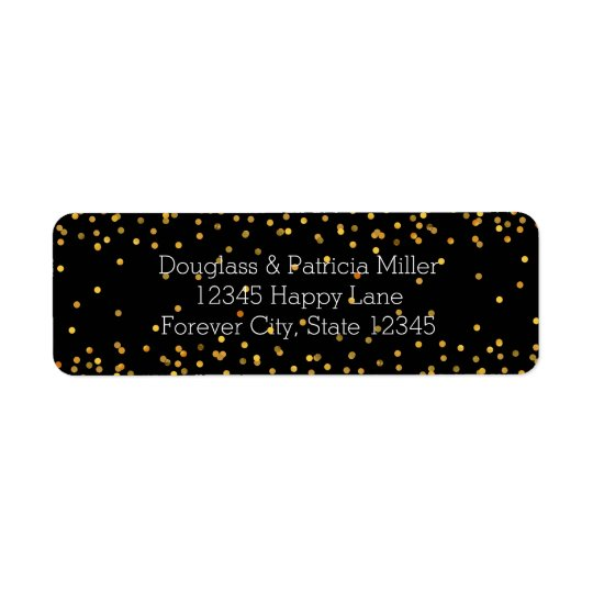 Gold and Black Glam Confetti Dots