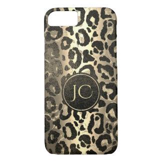 Gold and Black glitter  Leopard/ Jaguar print iPhone 8/7 Case