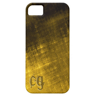 gold and black grungy tweed case for the iPhone 5