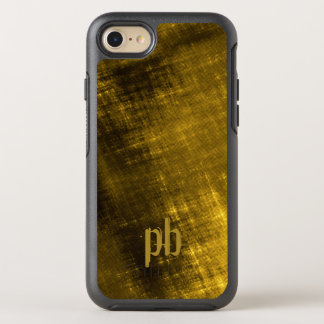 gold and black grungy tweed OtterBox symmetry iPhone 8/7 case