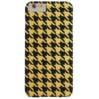 Gold and Black Houndstooth Red Barely There iPhone 6 Plus Case