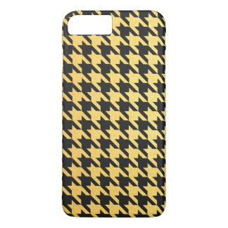 Gold and Black Houndstooth Red iPhone 7 Plus Case